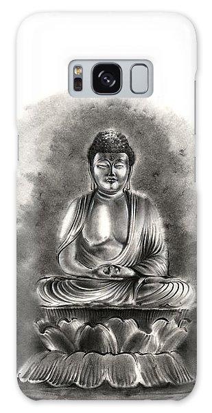 Buddha Galaxy Case - Buddha Buddhist Sumi-e Tibetan Calligraphy Original Ink Painting Artwork by Mariusz Szmerdt
