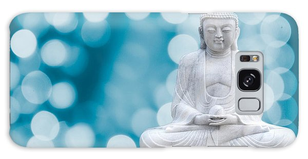 Buddha Enlightenment Blue Galaxy Case