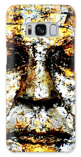 Buddha Face Galaxy Case by Nola Lee Kelsey