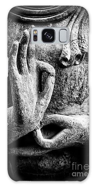 Buddha Hand Mudra Galaxy Case by Tim Gainey