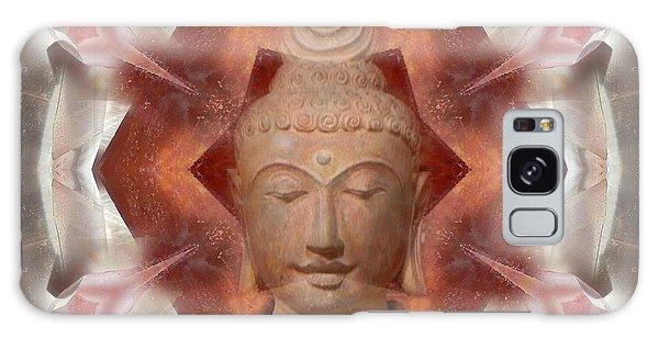 Buddha Head Crystal Mandala Galaxy Case