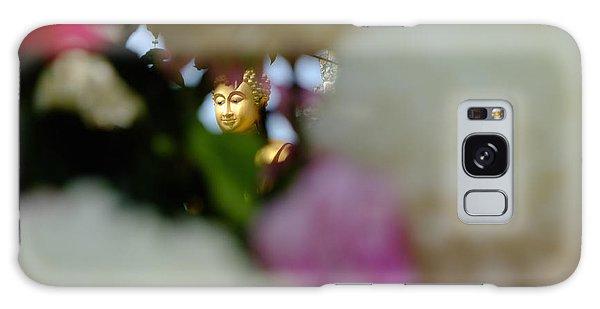 Buddha In Flowers Galaxy Case