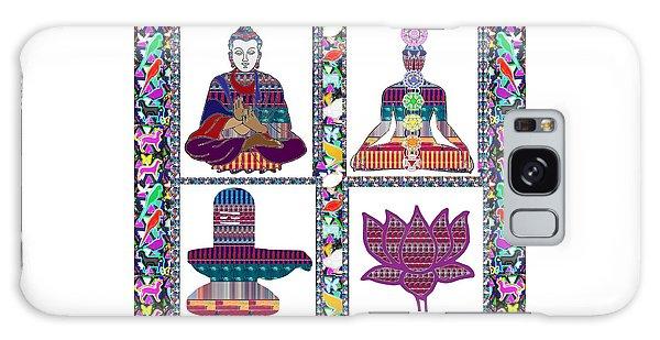 Buddha Yoga Chakra Lotus Shivalinga Meditation Navin Joshi Rights Managed Images Graphic Design Is A Galaxy Case by Navin Joshi