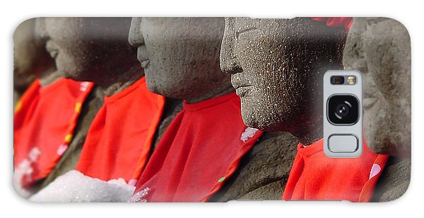 Buddhist Statues In Snow Galaxy Case by Larry Knipfing