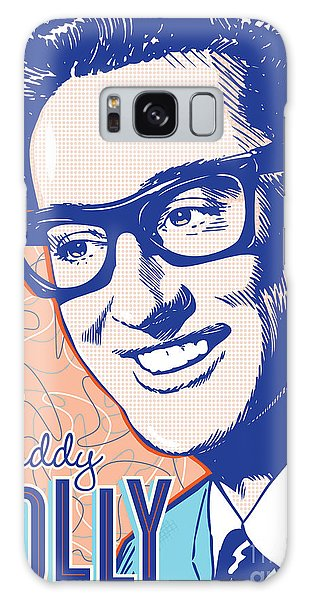 1950s Galaxy Case - Buddy Holly Pop Art by Jim Zahniser