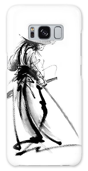 Samurai With A Sword. Ronin - Lone Wolf. Galaxy Case