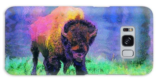 Buffalo At Yellowstone Galaxy Case by Jim  Hatch