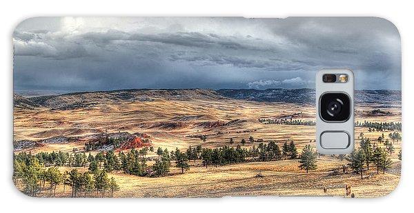 Buffalo Before The Storm Galaxy Case by Bill Gabbert