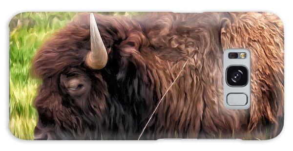 Buffalo Cat Nap Galaxy Case by Michael Pickett