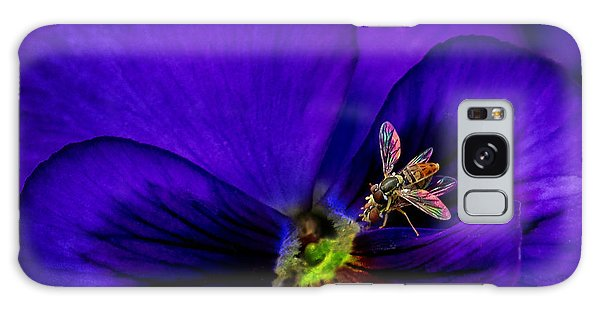 Bugs On Pansy Galaxy Case
