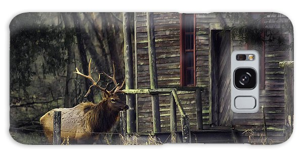 Bull Elk By The Old Boxley Mill Galaxy Case