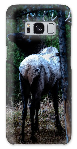Bull Elk In Moonlight  Galaxy Case