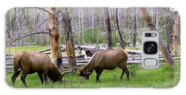 Bull Elk Sparing Galaxy Case by Larry Capra