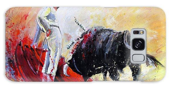 Bull In Yellow Light Galaxy Case