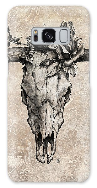 Bull Skull And Rose Galaxy Case by Emerico Imre Toth