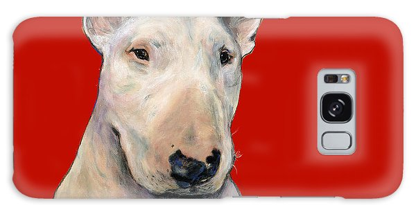 Bull Terrier On Red Galaxy Case
