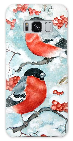 Bullfinch Couple Galaxy Case