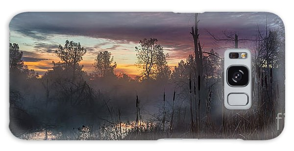 Bulrush Sunrise Full Scene Galaxy Case