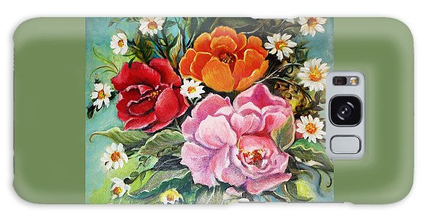 Bunch Of Flowers Galaxy Case by Yolanda Rodriguez