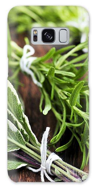 Herbs Galaxy Case - Bunches Of Fresh Herbs by Elena Elisseeva