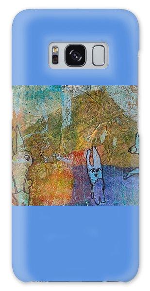 Bunny Ballet Galaxy Case by Catherine Redmayne