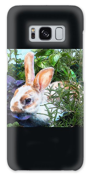 Bunny In The Herb Garden Galaxy Case by Jane Schnetlage