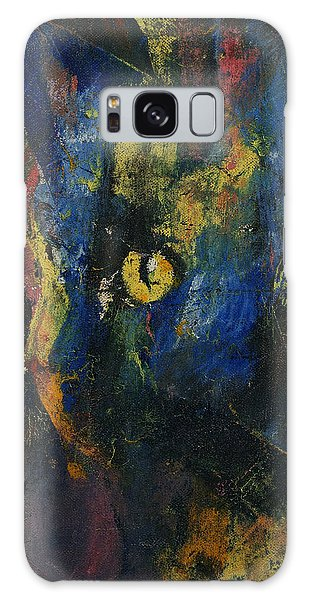 Calico Cat Galaxy Case - Blue Cat by Michael Creese