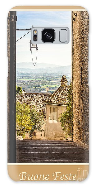 Buone Feste With Valley Outside Of Assisi Galaxy Case