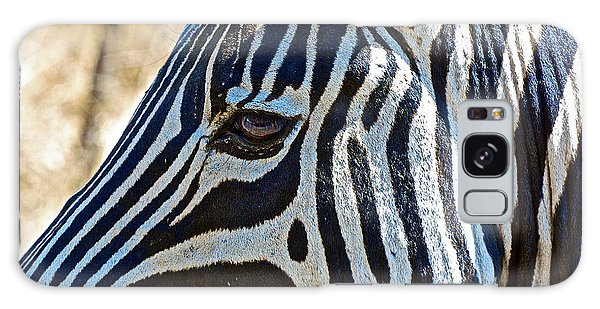 Burchell's Zebra's Face In Kruger National Park-south Africa Galaxy Case