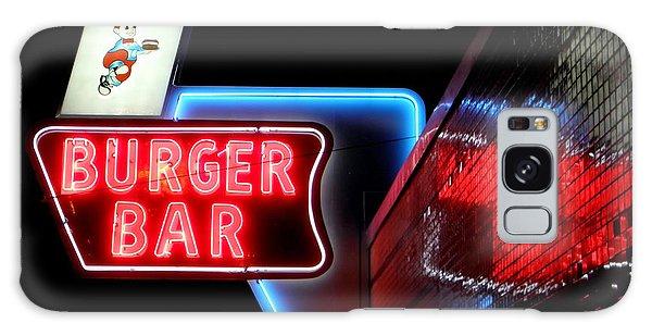 Burger Bar Neon Diner Sign At Night Galaxy Case