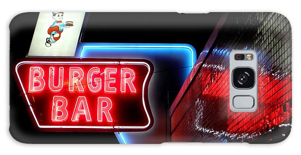 Burger Bar Neon Diner Sign At Night Galaxy Case