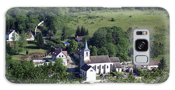 Burgundy Village Galaxy Case