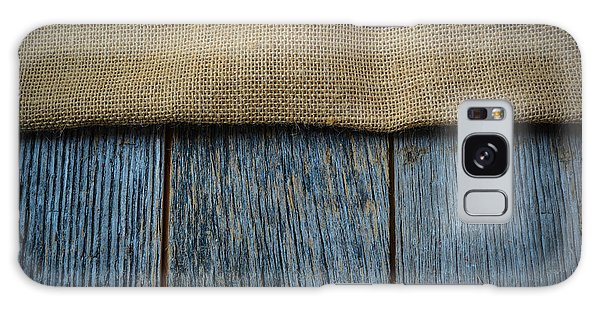 Burlap Texture On Wooden Table Background Galaxy Case