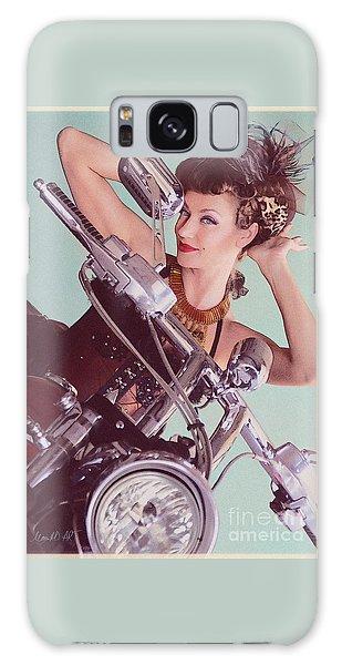 Burlesque Biker -portrait Galaxy Case