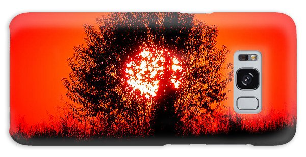 Burning Bush Galaxy Case by Nick Kirby