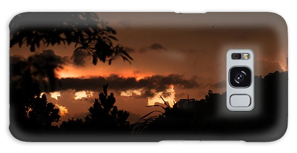 Burning Sunset Galaxy Case