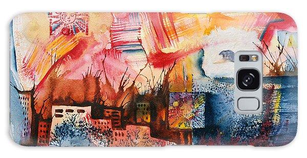 Galaxy Case - Burning Sunset by Zuzana Vass