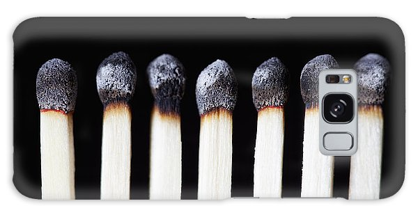 Burnt Matches On Black Galaxy Case