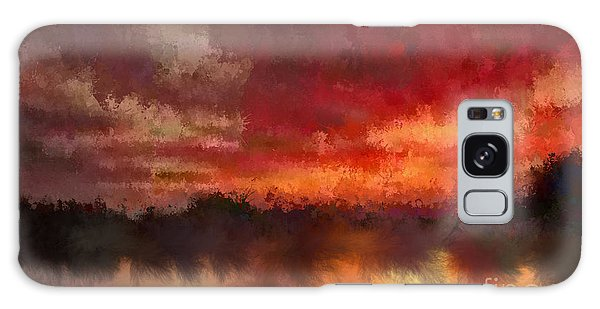 Burnt Sunset Galaxy Case by Holley Jacobs