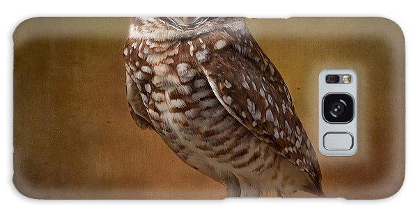 Burrowing Owl Portrait Galaxy Case