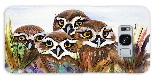 Burrowing Owls Galaxy Case