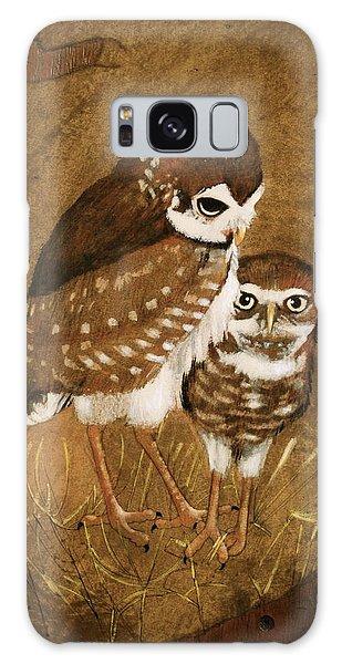 Burrowing Owls Galaxy Case