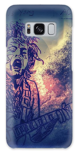 Burst Of Angus Young Galaxy Case