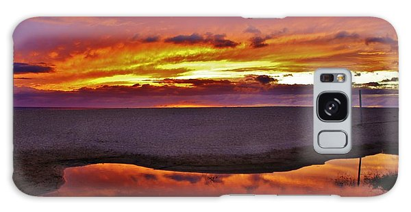 Burst Of Sunset Improves Overcast Day Galaxy Case