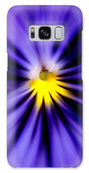 Bursting With Blue Pansy Galaxy Case