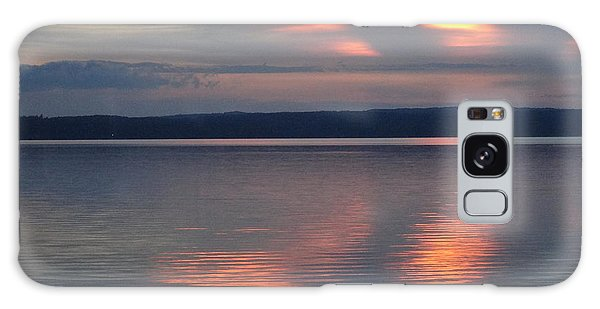 Burt Lake Sunset 2 Galaxy Case