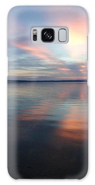 Burt Lake Sunset Galaxy Case