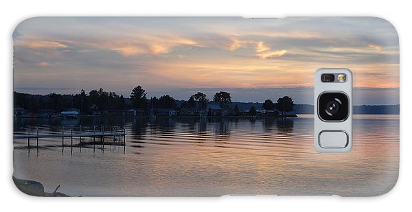 Burt Lake Sunset Silhouette Galaxy Case