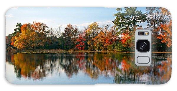 Burton Pond Sunset Galaxy Case