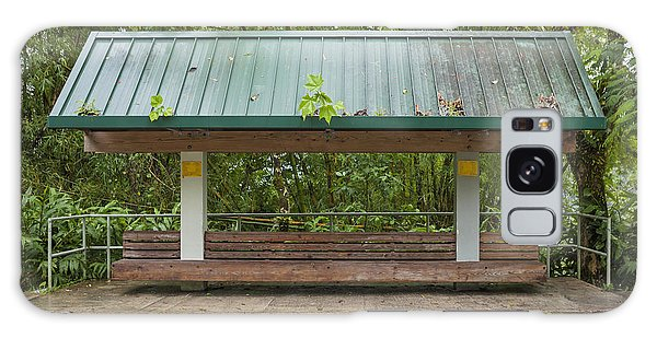 Bus Stop Bench In The Rainforest  Galaxy Case